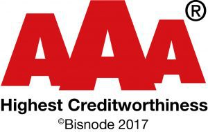 AAA Highest Creditworthness Bisnode 2017